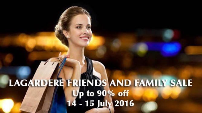 Lagardere Friends and Family 促销大卖1折起~UOB小伙伴可额外再享5%OFF