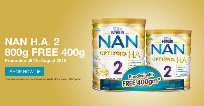 NAN OPTIPRO 奶粉400g免费送~有买就优惠