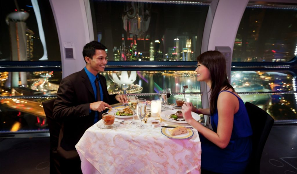 private singapore flyer sky dining capsule - 820×441